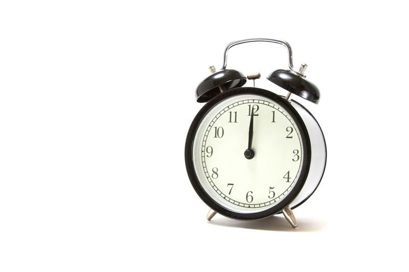 早起き、目覚まし時計