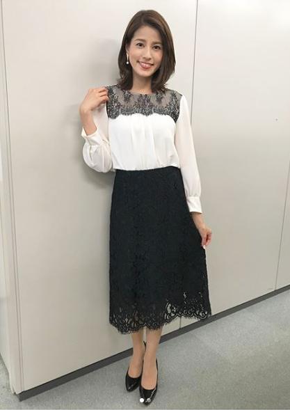 永島優美アナウンサーの夏のファッション01