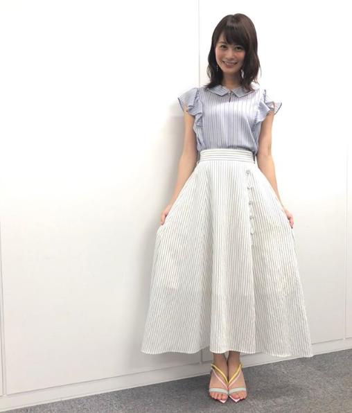 高見侑里アナウンサー夏のファッション01
