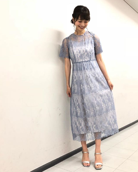 高見侑里アナウンサー夏のファッション03
