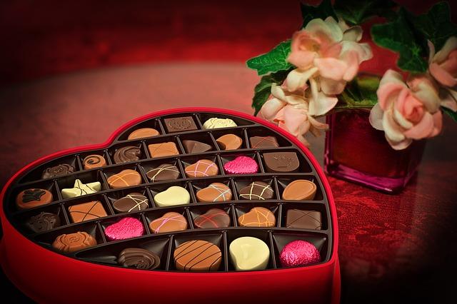 バレンタインデーにチョコをあげる